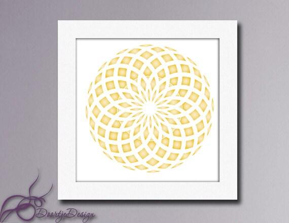 Gold Circles Wall Decor : Wall art abstract circles printables gold