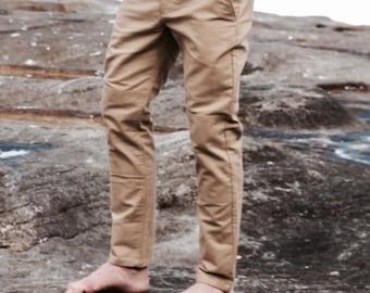 ARTISAN PANT | Chinos. Mens Pants. Long Pants. Cotton Pants. Slim pants. Knee patches