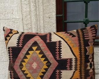 kilim pillow,pillow cover,hand woven pillow, big pillow,kurdish sofa pillow ,trendy pillow, 70x50 cm ( ''27x''20 inc) (2)