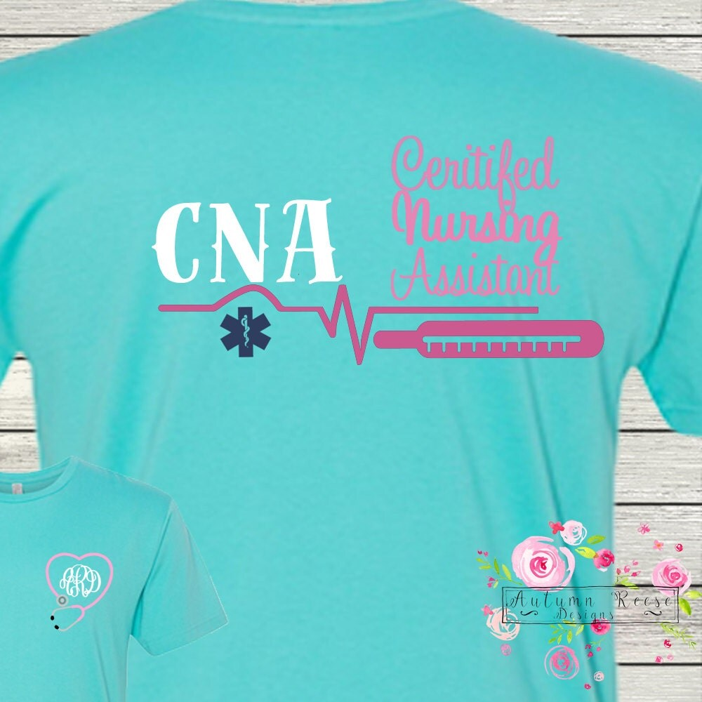 Cna certified nursing assistant monogrammed personalized custom cna certified nursing assistant monogrammed personalized custom medical assistant xflitez Choice Image