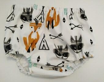 Culotte Zorritos y Mapaches -Cubrepañal bebé - Diaper cover - Bloomers