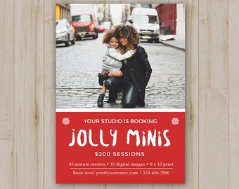 Jolly Mini Sessions - Holiday Mini Session template - Photoshop template Photoshop PSD *INSTANT DOWNLOAD*