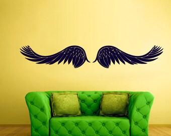 rvz757 Wall Vinyl Sticker Bedroom Decal Wings Angel