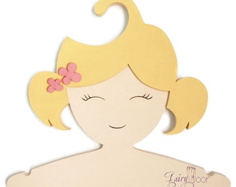 Children Clothes Hanger 3D-designed Hand made - Girl