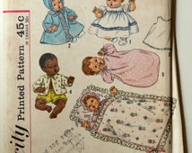 """Uncut 1960s Simplicity Vintage Sewing Pattern 4723, Size 14"""" Doll"""
