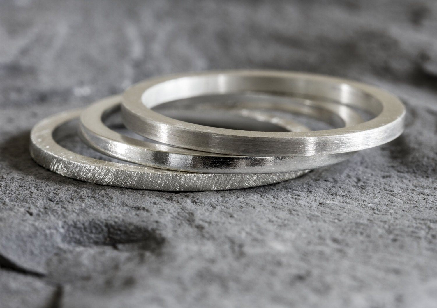 sterling silver stack ring set stacking rings silver stack