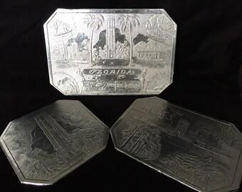 Florida souvenir foil trivets