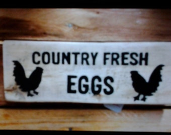 country fresh eggs sign
