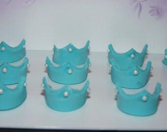 12 x Edible Crown / sugar paste decoration /cake / cupcake toppers / birthday