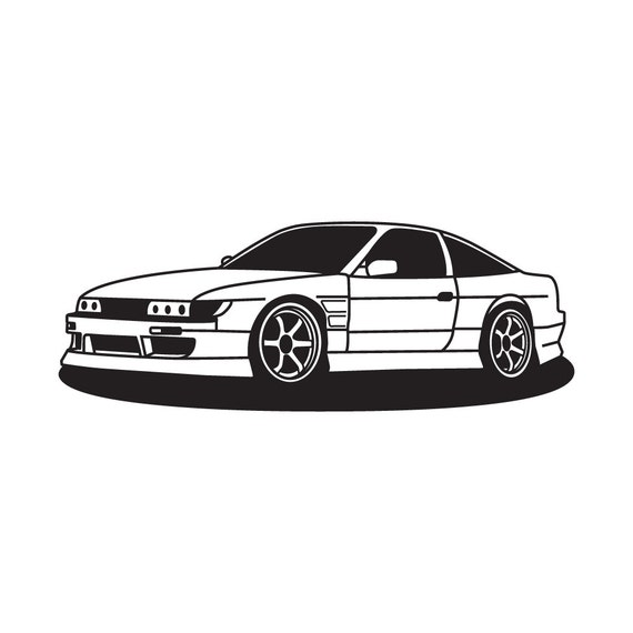 Nissan Sileighty S13/ 180sx/ 240sx Wall Vinyl Decal By
