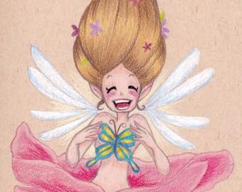 "ORIGINAL Illustration  ""Joy Fairy"""