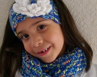 Infinity Scarf and Headband for Girls