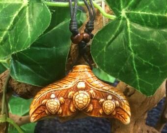 Sea turtle  charm necklace