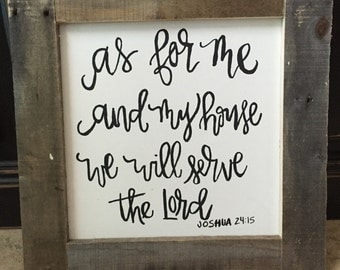 As For Me and My House Bible verse sign