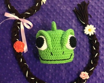 Pascal Hat, Tangled, Pascal Costume, optional Rapunzel hair, Headband