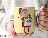 Mrs. Claus Mug, Christmas Coffee Mug, Holiday Mugs, Stocking Stuffers, Christmas Gifts, Xmas Gift, Holiday Gift, Teacher Coffee Mugs (X1711)