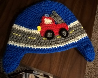 Little Tractor/Fire Engine hat