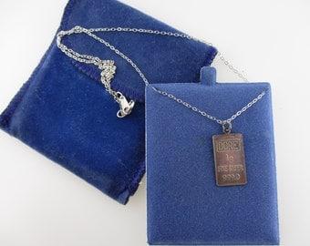 DORE 1g .999 Fine Silver Pendant with Sterling Silver Chain