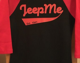 Ladies Jeep Baseball tee
