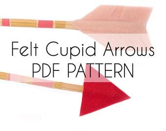 Felt Cupid Arrows Pattern