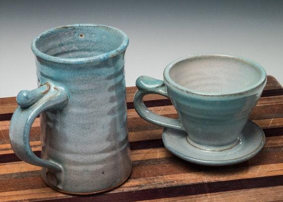 pour over coffee mug set coffee drip cone and coffee mug. Black Bedroom Furniture Sets. Home Design Ideas