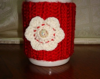 Red Cup Cozy, Red Cup Sleeve, Cup Cozy, Mug Cozy