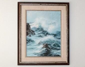"""E. John Robinson  """"Hazy Day"""" Seascape Painting"""