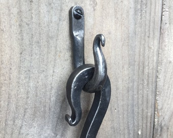 Traditional hand forged shepherds crook fire poker