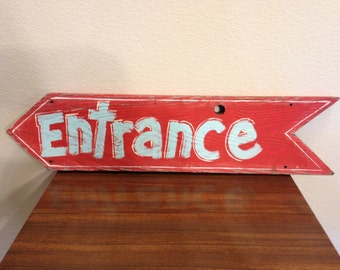 Hand painted entrance sign