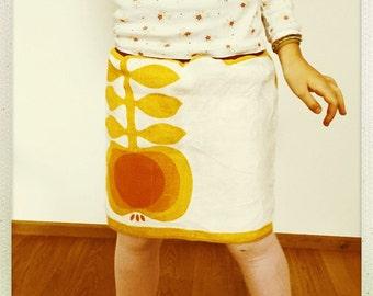 Apfel Rock 128 134 140 apple skirt Vintage Retro Waldorf 8 9 years