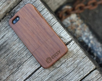 OXSY Walnut Genuine Wood Case - Apple iPhone 5 / 5S