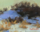 """RESERVED for SimonCo~ Original Oil Painting; New Snow #1 - 4"""" x 6"""""""