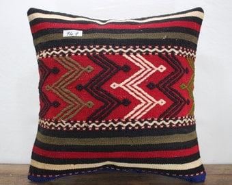 "kilim pillow cover 20x20 Turkish Kilim Pillowcase,Kilim Cushion Case 20""x20"" Decorative Pillows Vintage Kilim Pillow,Throw Pillow SP5050-141"