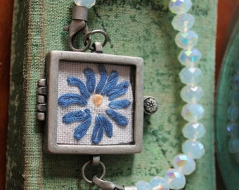 Framed Embroidered Bracelet