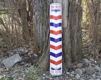 porcelain Marvey Barber Pole sign