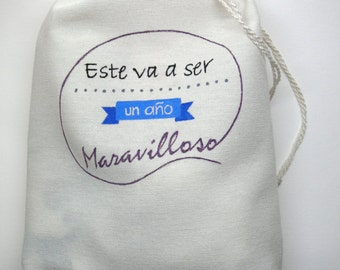 Personalized bag (painted or embroidered)
