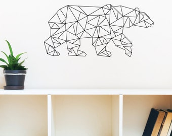Geometric Polar Bear Wall Decal