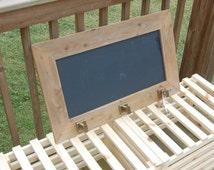 "Chalkboard Coat Rack 18"" x 30"""