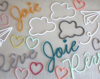 Divers en tricotin - Rêve - Joie  - Nuage  - Coeur