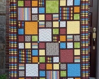 Modern Lap Quilt Contemporary Quilt Mid Century Modern : modern quilts for sale - Adamdwight.com