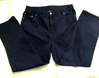 Lauren Jeans Co. RALPH LAUREN Navy Blue Jeans