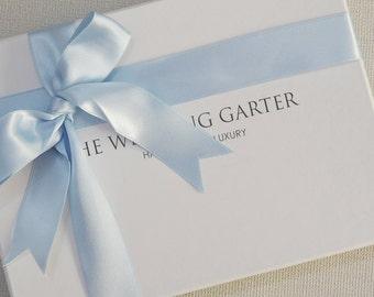 Garter Gift Box, Wedding Garter Gift Box, White Box, Gift Wrapping, Wedding Accessories, Garter Box, Wedding Garter Box
