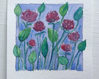 Original Watercolor, Summer Bloom IV by Zarabeth Duell
