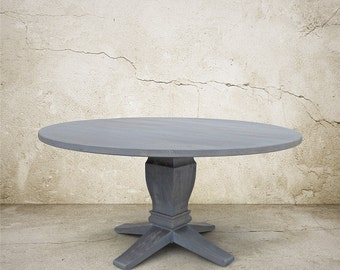 Table, Dining Table, Round Table, Reclaimed Wood, Kitchen Table, Handmade