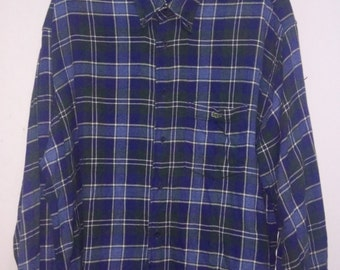 Clearence Sale  Lacoste Flannel Shirt Checkered Shirt Button Downs Ralph Lauren