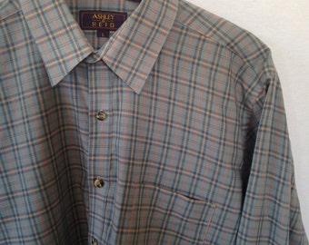 light blue plaid button front shirt by Ashley & Reid