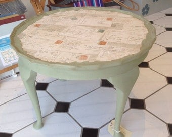 Vintage hand painted coffee table.