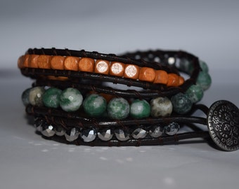 Ching Hai Jade Wrap Bracelet