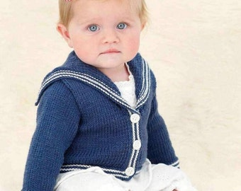 Baby sailor jacket Cardigan