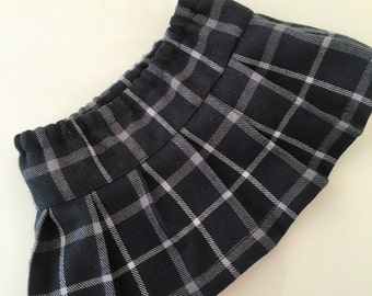 Pleated wool blend skirt fits American girl dolls